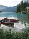 Canoes On Picturesque Lake Royalty Free Stock Images - 1282969