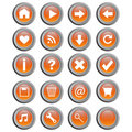 Round Web Buttons - Vector Royalty Free Stock Image - 12802816