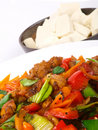 Chinese Fried Chicken With Vegetables. Stock Image - 12812621