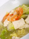 Chinese Chicken Stock Tofu Soup Royalty Free Stock Photography - 12812727