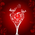 Valentines Tree Background, Vector Royalty Free Stock Photos - 12813458