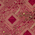 Printed Red Industrial Circuit Board Pattern Royalty Free Stock Photography - 12831147