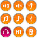 Audio Icons. Stock Photo - 12838730