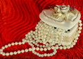 Pearls In A Casket Stock Images - 12845104