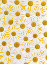 Fresh Daisies Over Yellow Background Royalty Free Stock Photography - 12846687