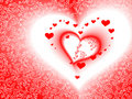 Valentine&x27;s Day Card, Vector, Romantic Heart Stock Images - 12852364