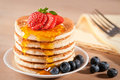 Pancakes With Maple Syrup Stock Images - 12857724