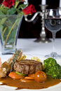 Surf  N  Turf A La Carte Meal Royalty Free Stock Images - 12873329