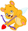 Cupid Teddy Bear Royalty Free Stock Images - 12881859