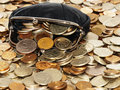 Purse With Coins And Dollars Stock Photography - 12895782