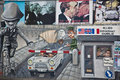 Berlin Wall Mural Of Check Point Charlie Stock Image - 12897071
