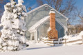 House And Tree In Winter Snow Stock Image - 12912241