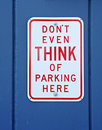 Funny No Parking Sign Royalty Free Stock Images - 12942889