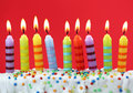 Nine Birthday Candles Royalty Free Stock Images - 12946589