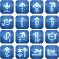 Cobalt Square 2D Icons Set: Arrows Royalty Free Stock Photos - 12949518