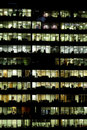 Business District Buildings Reflexions At Night Stock Photography - 12956282
