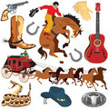 Wild West Clipart Icons Stock Photography - 12960452