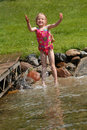 Playing In Water Stock Photography - 12963502