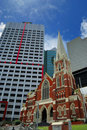 Contrast Old And New Brisbane Royalty Free Stock Photos - 12968288