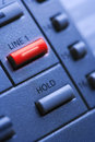 Telephone With Lit Line One Button Stock Photography - 12969302