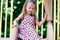 Girl Playing At The Playground   Stock Images - 12969394