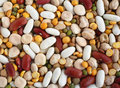 Mixed Beans From Above Stock Image - 12973741