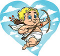 Flying Cupid Stock Photography - 12973862
