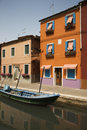 Buildings And Boat On Canal In Venice Stock Photo - 12978240