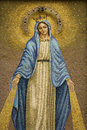 Mosaic Of The Virgin Mary Wearing A Crown Royalty Free Stock Photos - 12978298