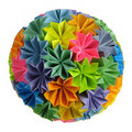 Origami Kusudama Rainbow Stock Photography - 12993432