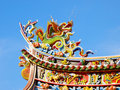 Roof Of Chinese Temple Royalty Free Stock Image - 12994326