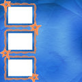 Old Frame With Orange Stars And Buttons Royalty Free Stock Images - 13000139