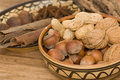 Various Nuts In A Bowl Stock Photos - 13009353