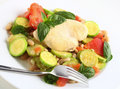 Italian Chicken And Vegetables Side View Royalty Free Stock Images - 13041089