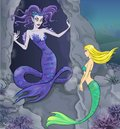 Fairy Tale 6. Mermaid And Witch. Stock Photography - 13062462
