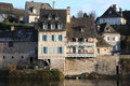Argentat River Front Houses Royalty Free Stock Images - 13071849