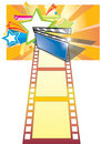 Clip Board, Film And Star Backgroundr (with Ai Fil Stock Photos - 13074903