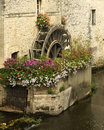 Mill Wheel With Flowers, France Stock Image - 13096181