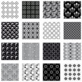Collection Of Seamless Backgrounds Black And White Stock Photos - 13098793