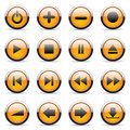 Vector Orange Buttons Stock Photo - 13126300