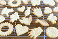 Cooling Freshly Baked Cookies Royalty Free Stock Image - 13137586