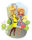 Cartoon Cute Girls Royalty Free Stock Image - 13139686