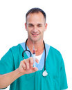 Portrait Of A Mature Doctor Holding A Syringe Royalty Free Stock Images - 13144559