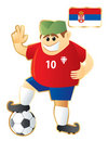 Football Mascot Serbia Stock Image - 13156101