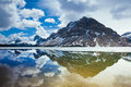 Reflection In Bow Lake Stock Photography - 13165202