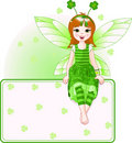 Fairy Place Card For St. Patricks Day Stock Photography - 13175622