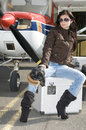 Pilot Woman Waiting To Fly Stock Images - 13180084
