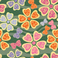 Seamless Pattern With Butterflies And Flowers Stock Photos - 13189653