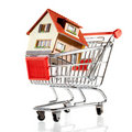 House And Shopping Cart Royalty Free Stock Photography - 13191797