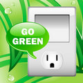 Go Green Electric Outlet Royalty Free Stock Image - 13192306